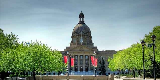 Edmonton Canada legislature building